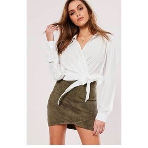 Missguided Faux Suede Mini Skirt